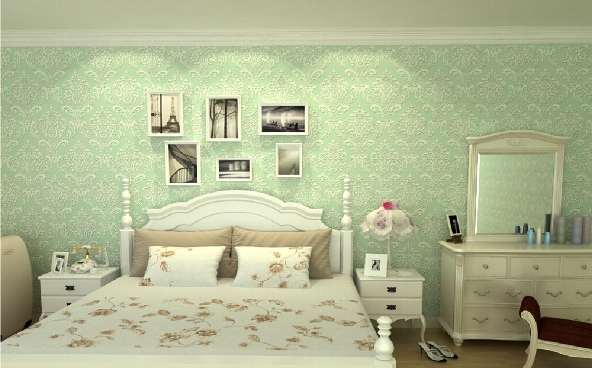 Bedroom Wallpaper Green Renovating Ideas