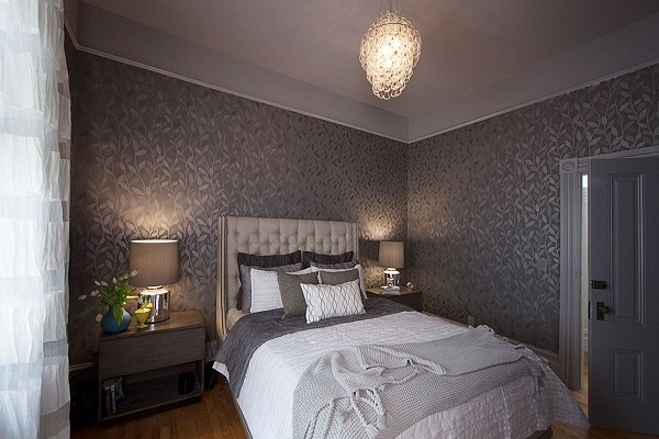 Bedroom wallpaper grey 4 decoration inspiration for Dark grey bedroom wallpaper