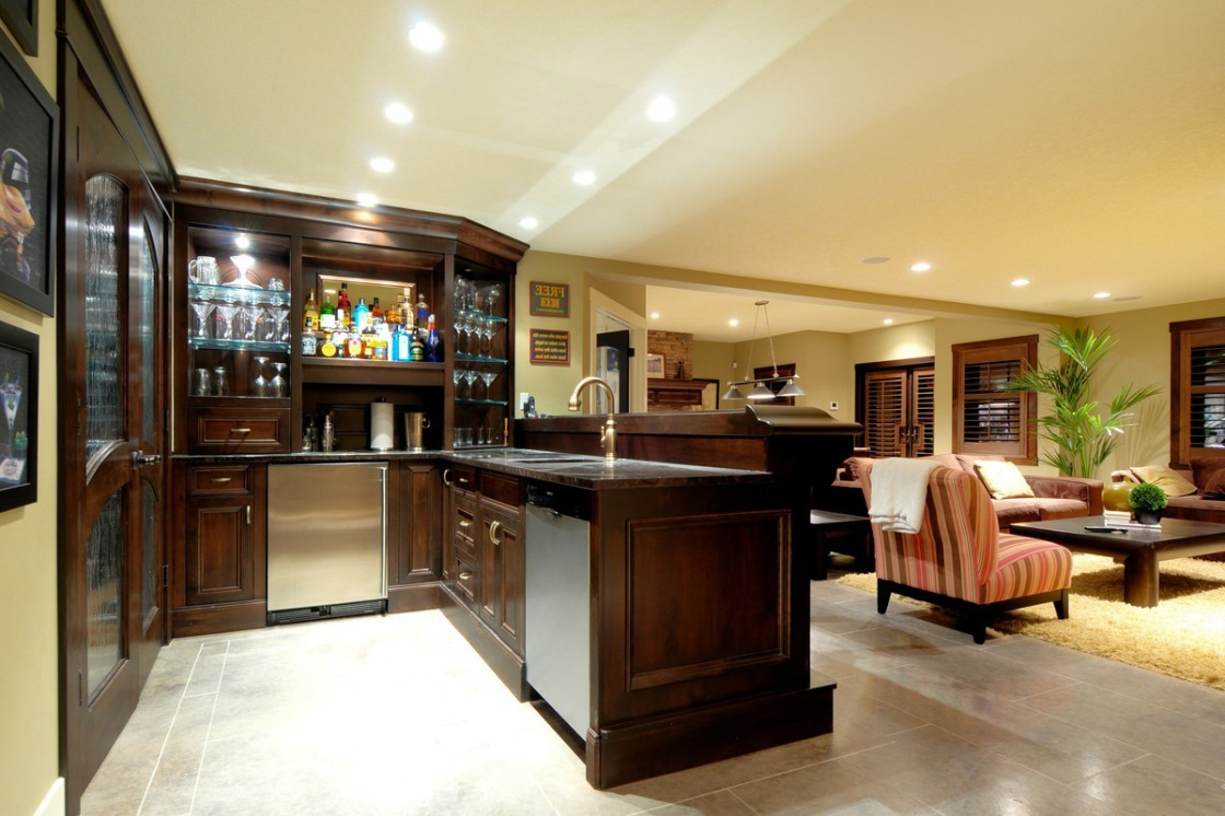 Cool basement bar ideas 23 inspiration - Bar in living room designs ...