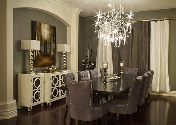 Elegant dining room decor 19 ideas for Elegant dining room decor