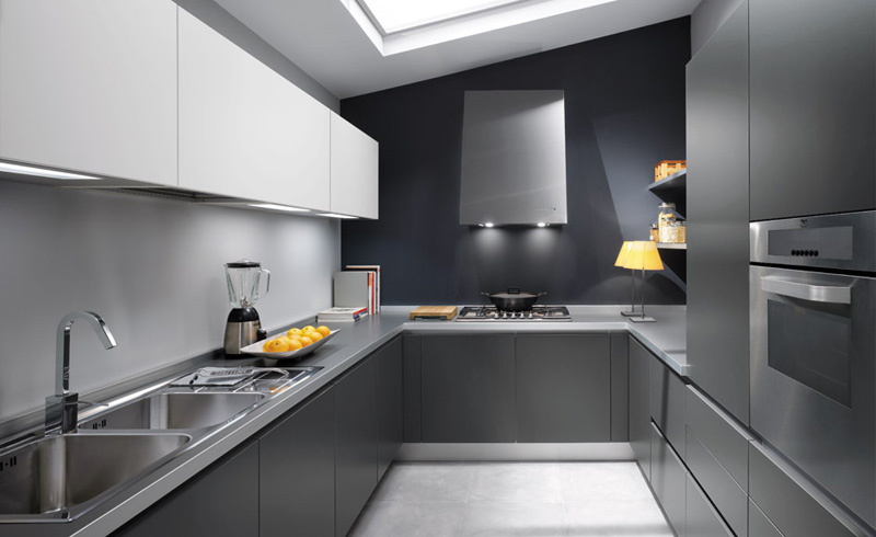 Contemporary Grey Kitchen gray kitchen designs contemporary - 3d house designs - veerle