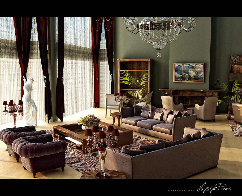 Classic Living Room 96 Designs