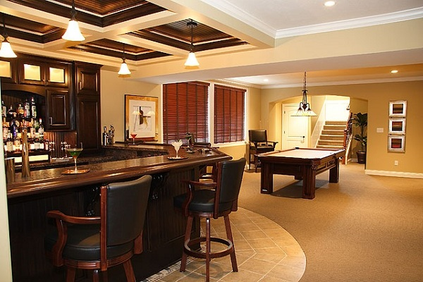 Luxury basement designs 18 design ideas for Luxury house plans with basements