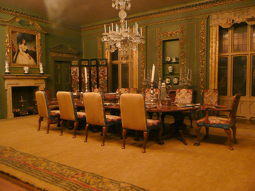 Luxury Dining Room Design HD Backgrounds