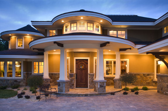 Luxury exterior design 1 inspiration for Luxury house exterior designs