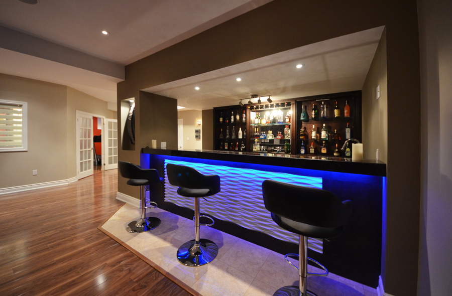 Modern Basement Bar Ideas 14 Picture