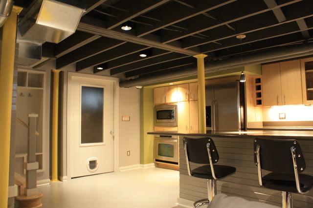 Modern Basement Ceiling 23 Inspiring Design