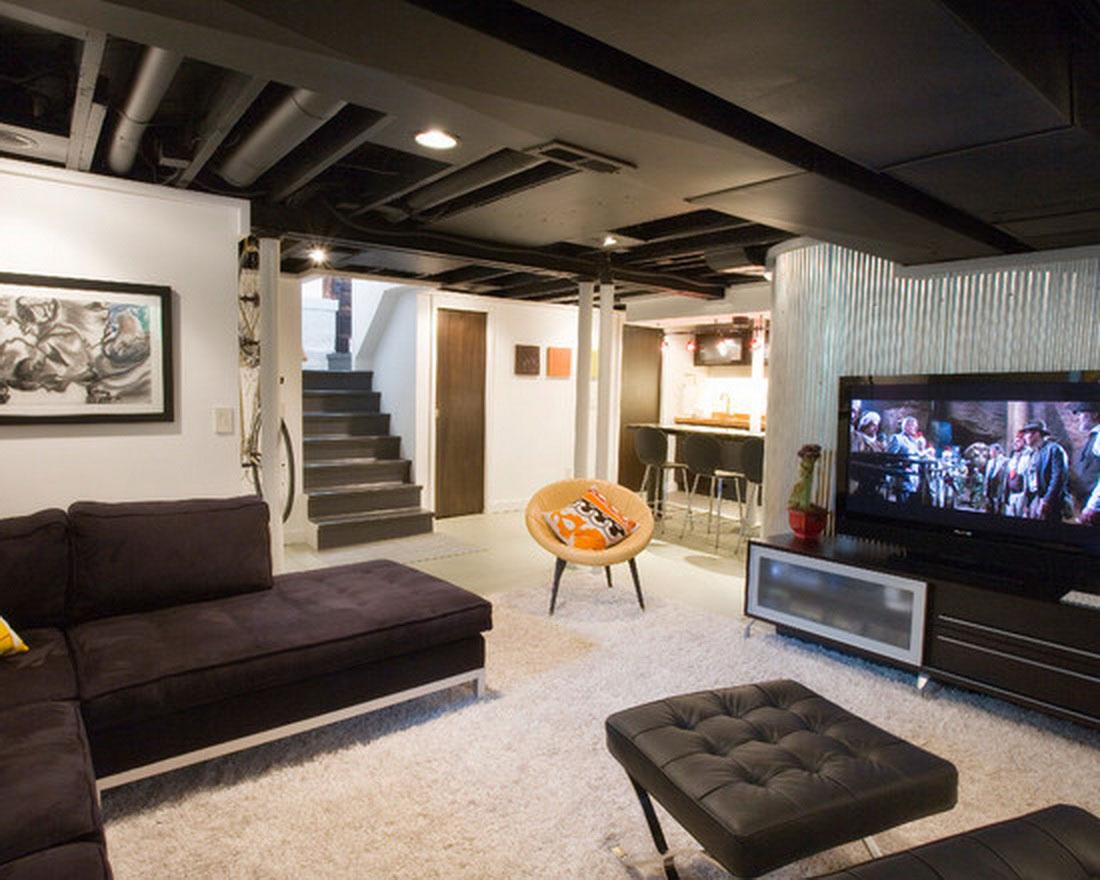 modern basement decor 5 design ideas - enhancedhomes