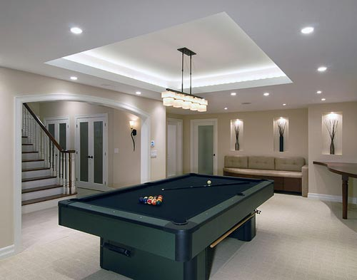 Modern basement designs 7 decor ideas for Modern basement ideas