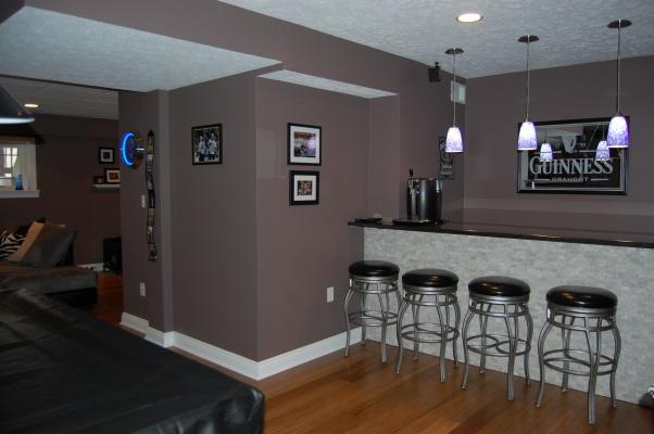 modern basements 3 home ideas. Black Bedroom Furniture Sets. Home Design Ideas
