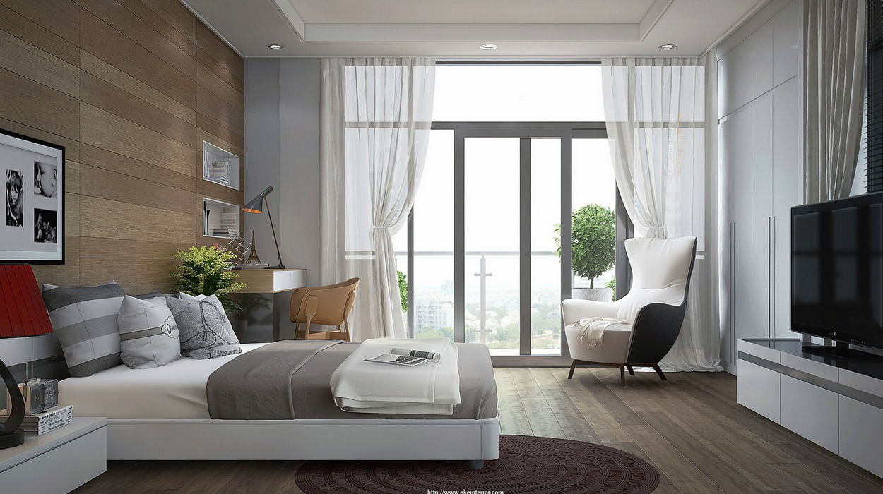 Modern bedroom art ideas 10 inspiration for Terrace white