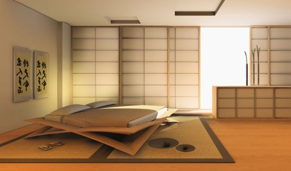 Modern Japanese Bedroom Design Renovating Ideas