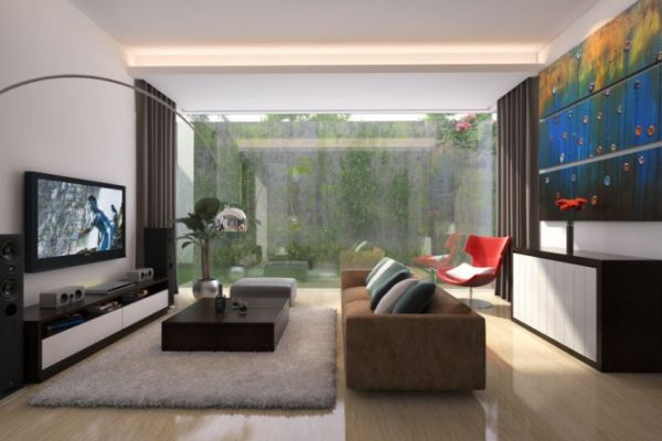 Attractive Modern Japanese Living Room Design Remodeling Ideas