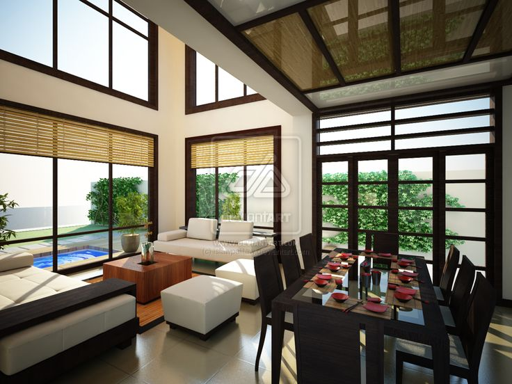 Living room japanese style interior design for Modern japanese style living room