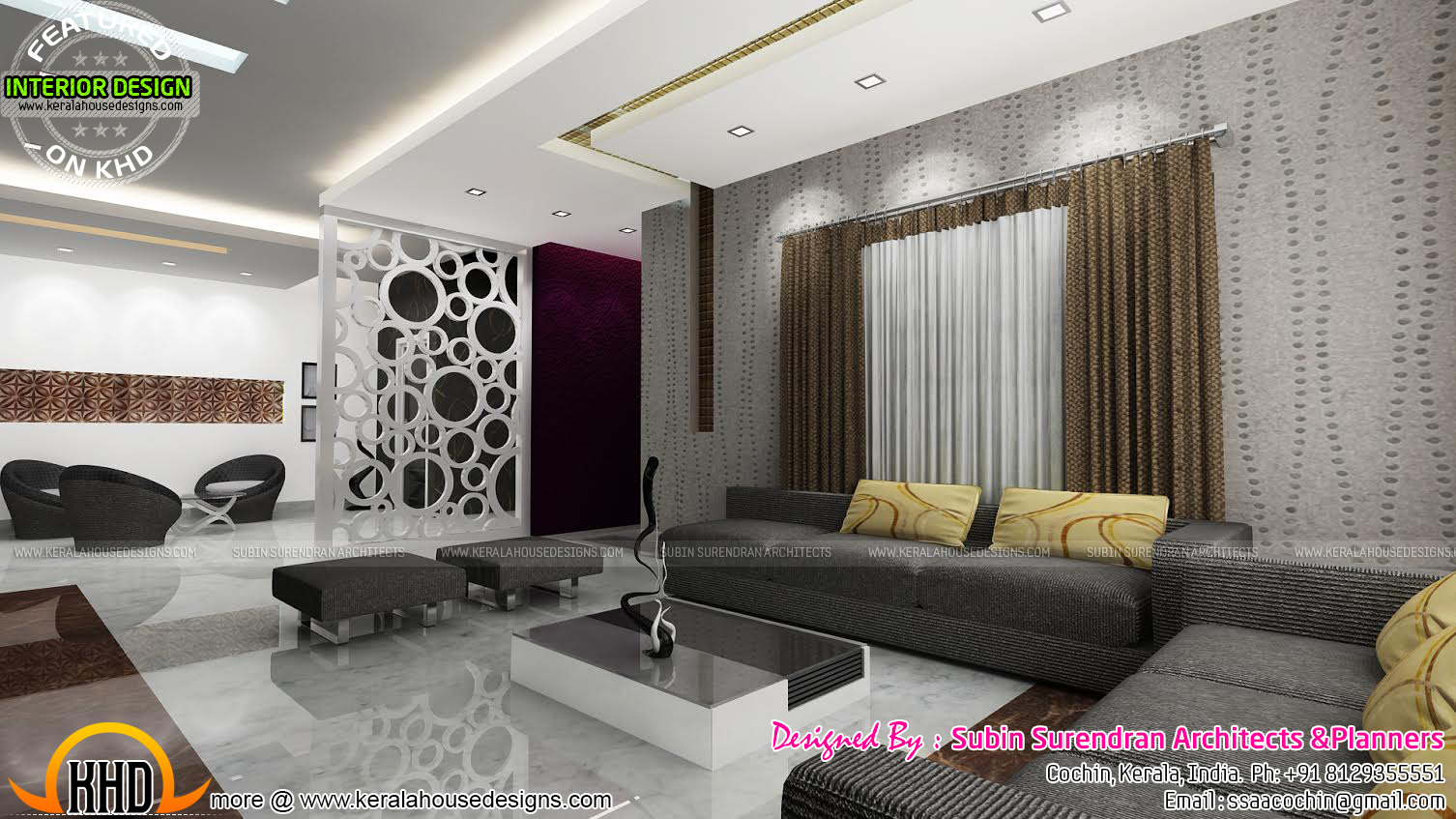 Modern living room kerala style 1 renovation ideas for Living room designs kerala style