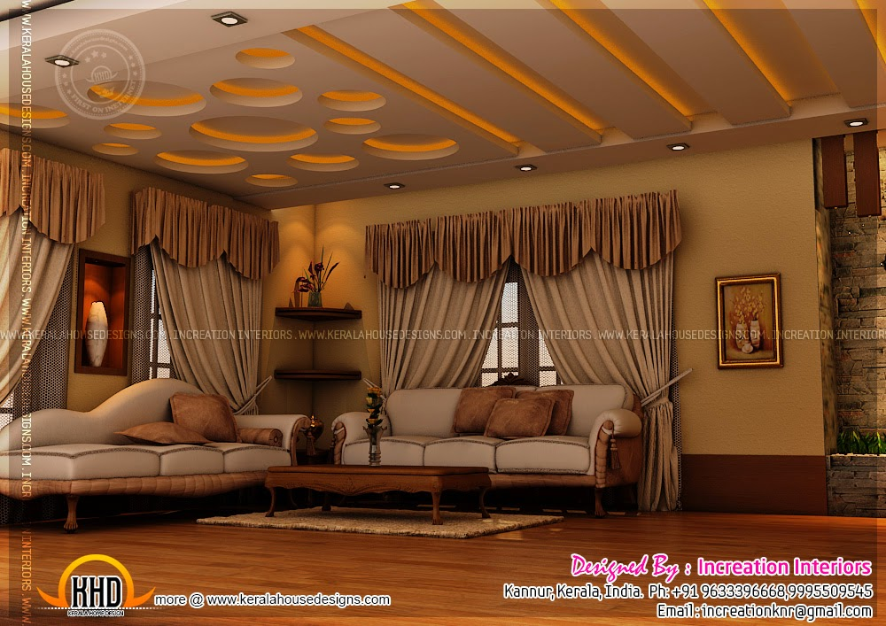 Modern living room kerala style 13 inspiration for Living room designs kerala style