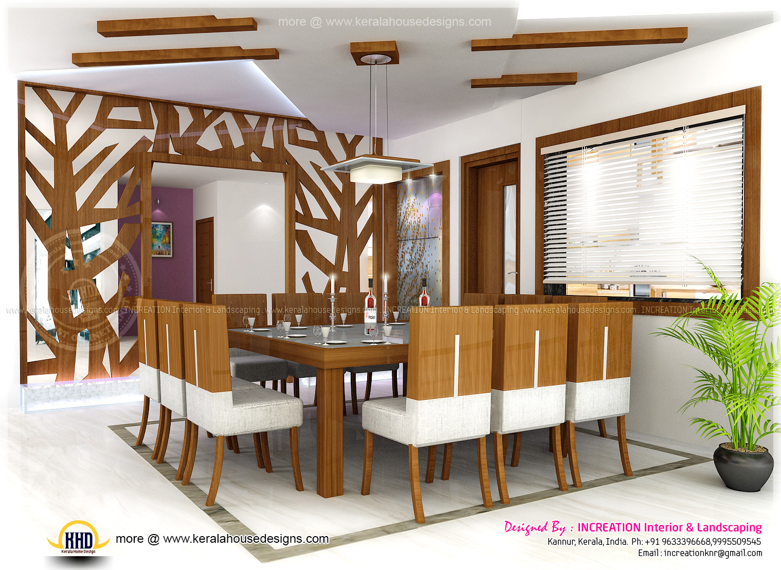 Modern living room kerala style 2 inspiration for Kerala model interior designs
