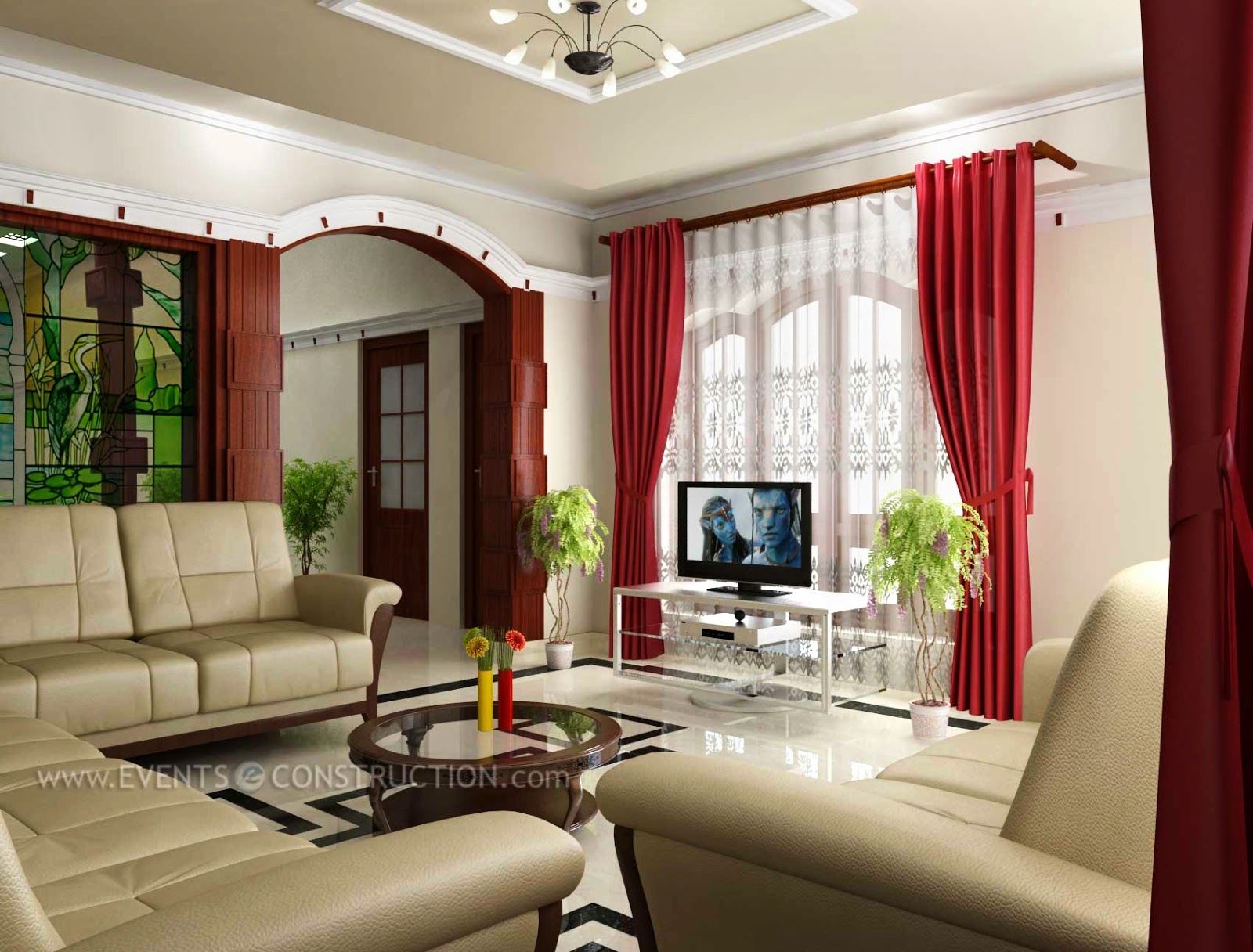 Modern living room kerala style 21 inspiration for Modern look living room