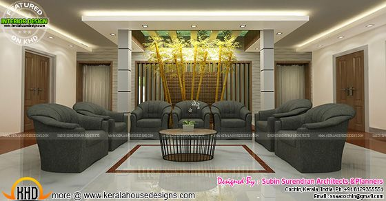 Modern living room kerala style 32 decor ideas for Living room interior in kerala