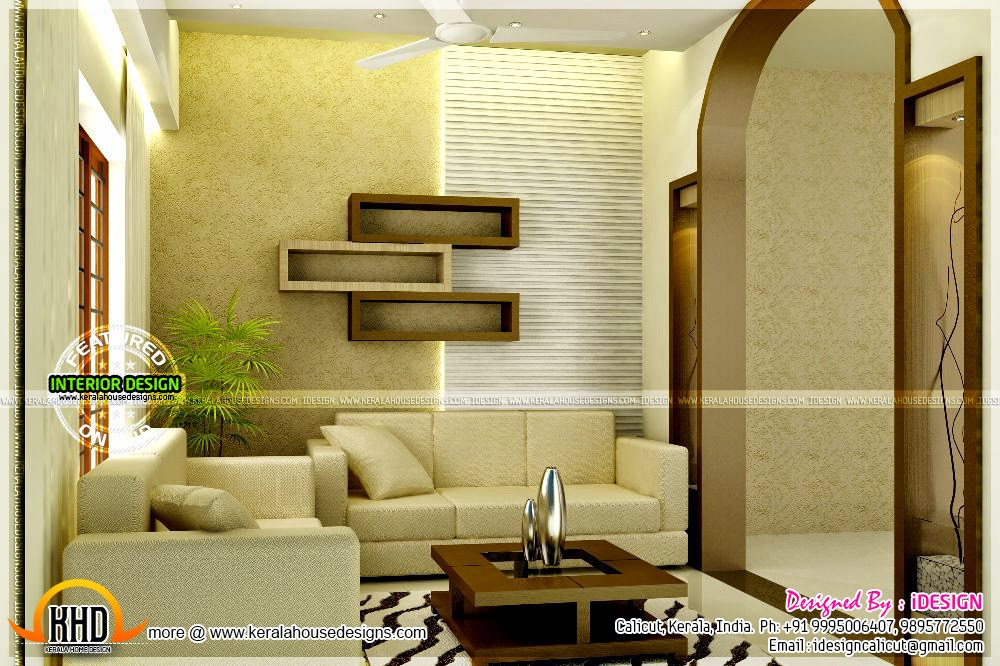 Modern living room kerala style 33 design ideas for Kerala home living room designs