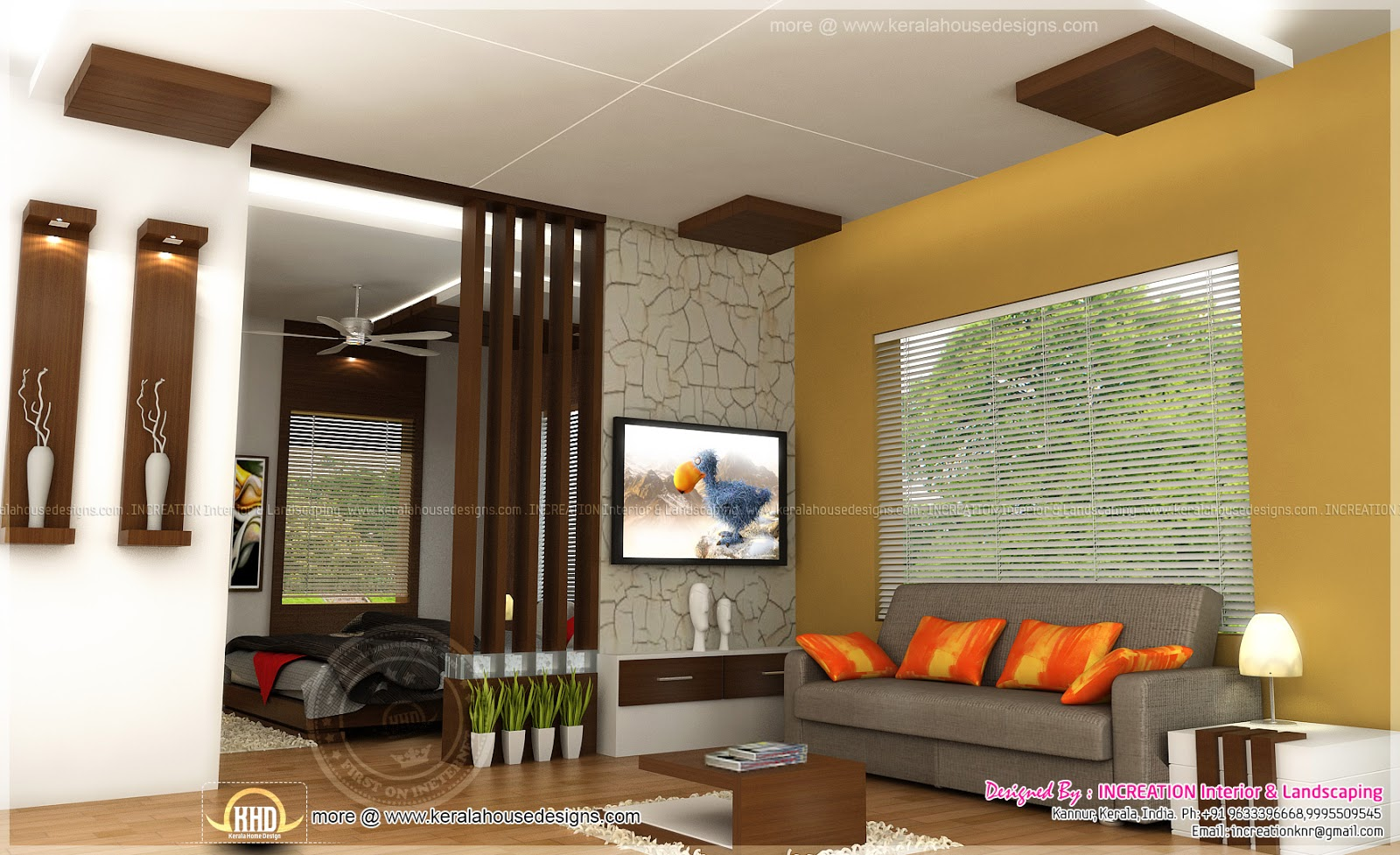 Kerala style living room interior living room for Living room designs kerala style
