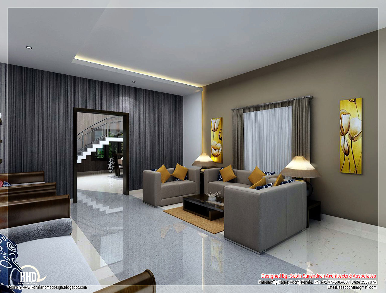 Modern living room kerala style 8 design ideas for Living room designs kerala style