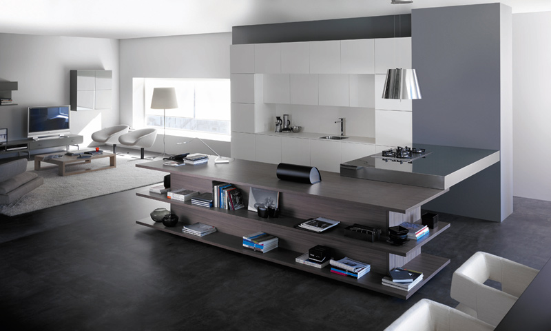 Modern Kitchen Living Room Ideas modern living room kitchen 30 design ideas - enhancedhomes