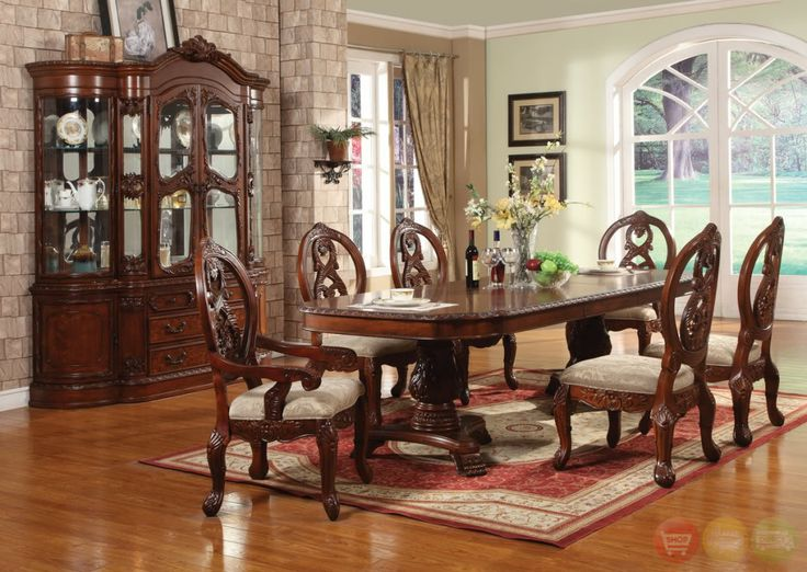 Traditional Dining Room Sets Cherry 6 Picture