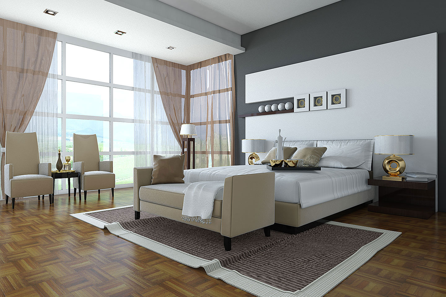 Elegant Big Bedroom Designs Decorating Ideas