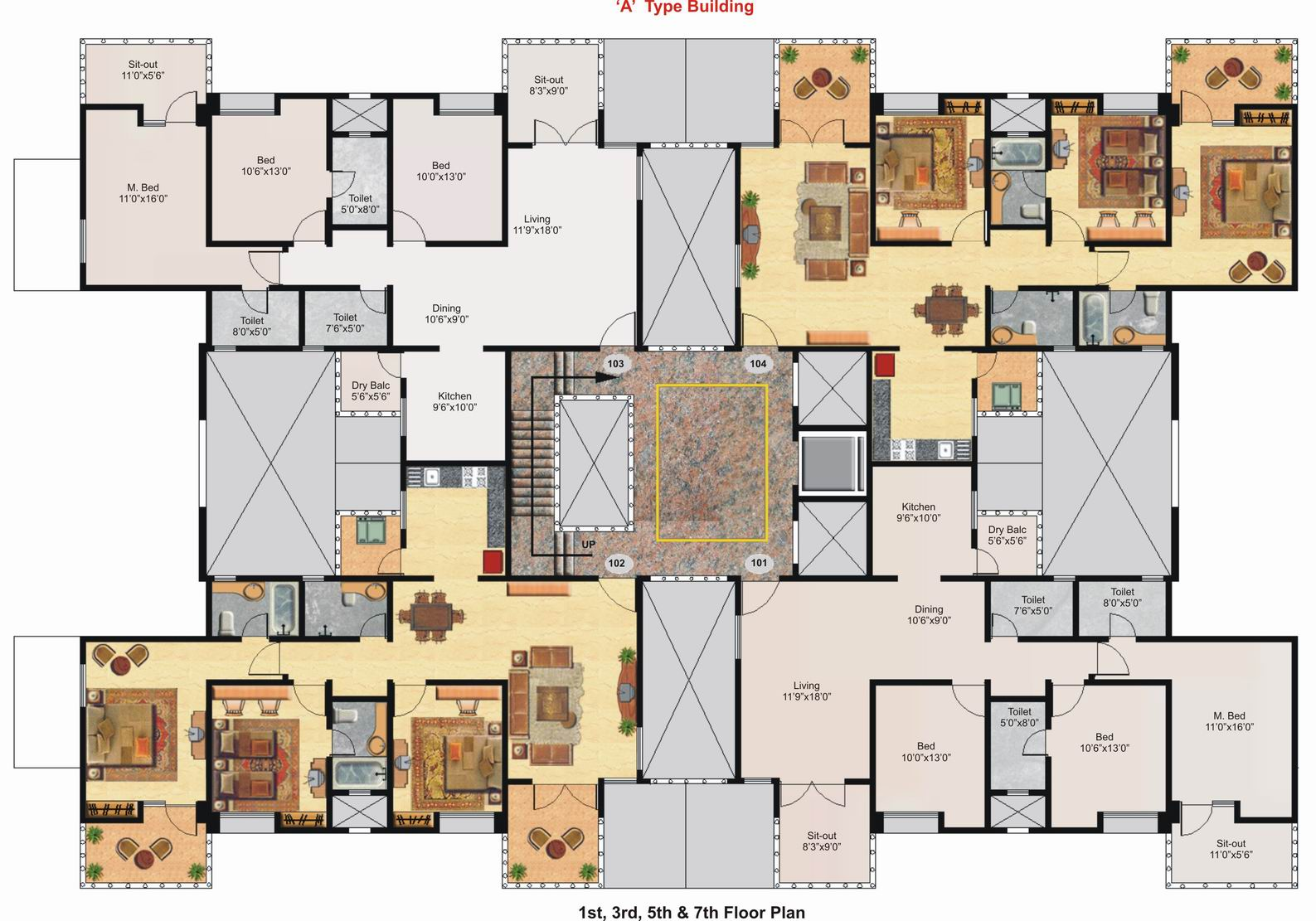 3d floor plan of a celeb mansion modern house - Bedroom house floor plans ...