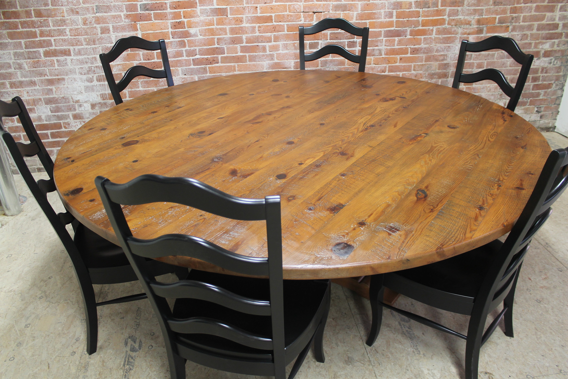 Fine Rustic Round Dining Room Tables 78 Inch Table For The Casual