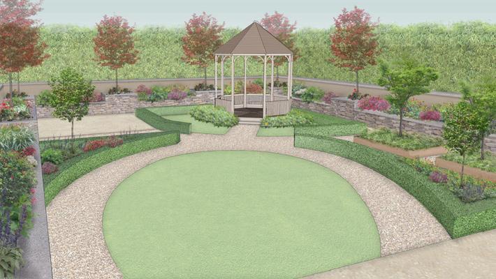 Big garden design 10 picture for Rural garden designs