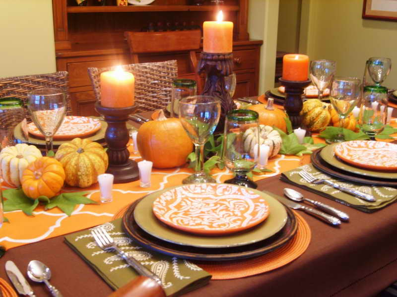 fine dining table arrangement hd backgrounds - Thanksgiving Dinner Table Ideas