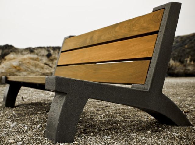 Modern Wood Bench ~ Modern garden bench decoration idea enhancedhomes