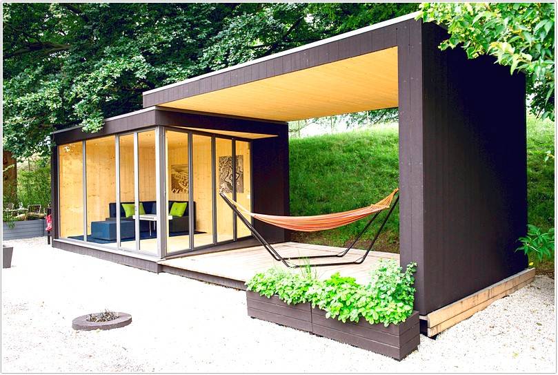 Image gallery modern garden sheds for Garden building design ideas