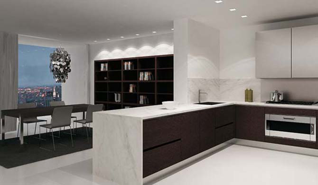 Modern kitchen ideas 21 renovation ideas for Modern kitchen wallpaper ideas