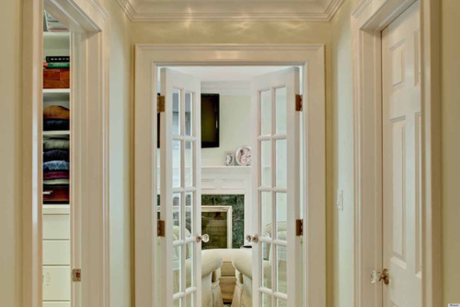 Narrow wooden french doors photo album for Small exterior french doors