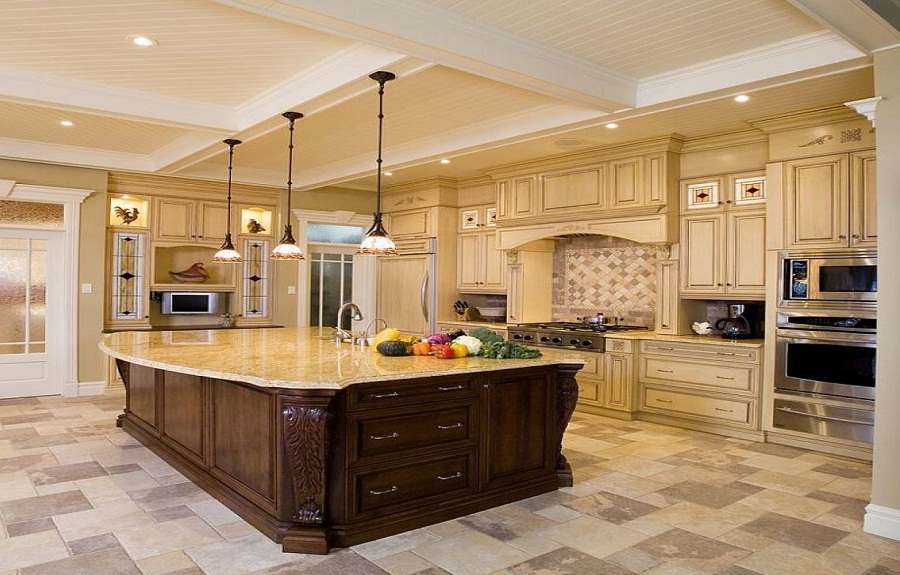 kitchen arrangement ideas big kitchen design ideas 18 arrangement enhancedhomes org 12847